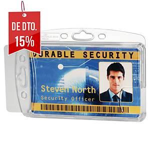 Pack de 10 identificadores de segurança fechados Durable - transparentes