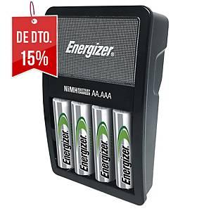 Carregador de pilhas Maxi Energizer + 4 pilhas AA pré-carregadas - 2000 mAh