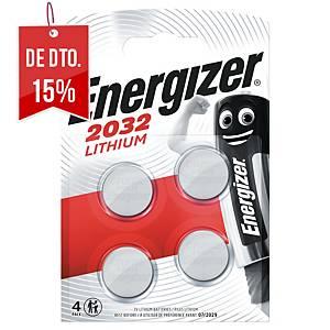 Pack de 4 pilhas-botão de lítio Energizer CR2032- 3 V