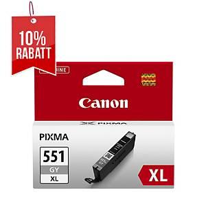Tintenpatrone Canon CLI-551XLGY, 275 Fotos 10x15cm, grau