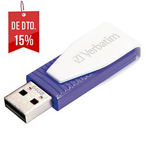 Memória USB Verbatim Store  n  Go Swivel - USB 2.0 - 64GB - violeta