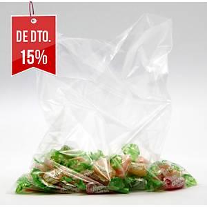 Pack de 500 sacos de plástico sem fecho - 250 x 300 mm - transparente