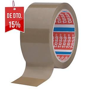 Pack de 6 fitas adesivas de embalagem Tesa 4089 - 50 mm x 66 m - castanho