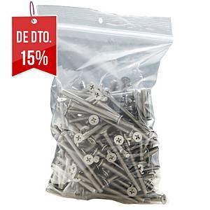 Pack de 100 sacos minigrip - 180 x 250 mm - 50 µ