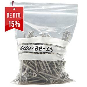 Pack de 100 sacos minigrip com etiqueta - 160 x 220 mm - 50 µ