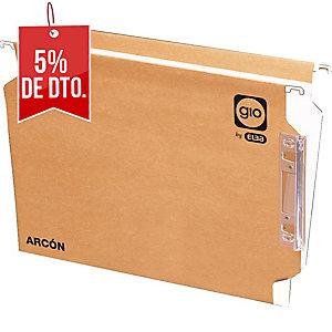 Pack de 25 carpetas colgantesgio folio vision lateral kraft