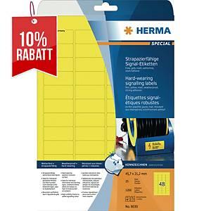 Folien-Etiketten Herma 8030 Signalschilder, 21,2 x 45,7mm (LxB), gelb, 1200 St