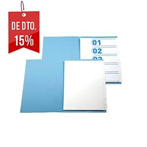 Conjunto 5 separadores - A4 - cartolina - branco