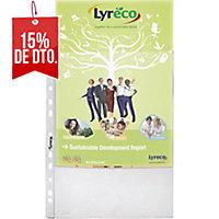 Pack de 100 fundas multitaladro LYRECO Folio 70micras cristal
