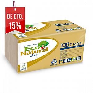 Pacote de 500 guardanapos de papel Lucart Maxi - 300 x 300 mm - havana