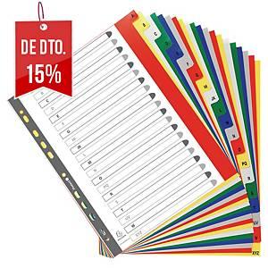 Conjunto 20 separadores alfabéticos Exacompta - A4+ - PP