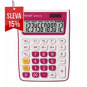 Rebell SDC912+ stolní kalkulačka 12místná, růžová