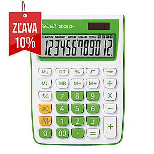 Rebell SDC912+ stolová kalkulačka s 12-miestnym displejom, zelená