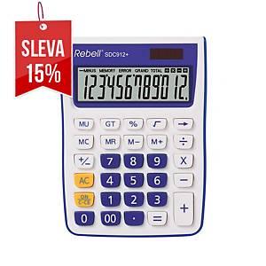 Rebell SDC912+ stolní kalkulačka 12místná, fialová