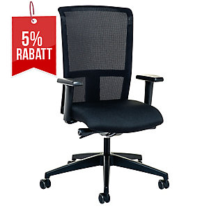 Bürostuhl Interstuhl Level-X 3462, mittelhohe Rückenlehne, schwarz