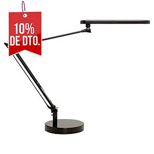 Lámpara Unilux Manboled - LED - brazo articulado doble - negro