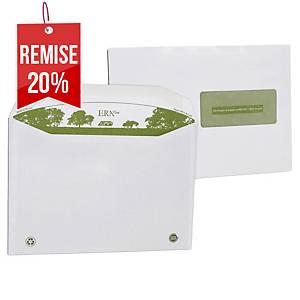 Enveloppe mécanisable recyclée 229 x 324 - 90 g - fenêtre 50 x 105 - par 250