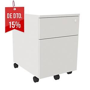 Módulo Ofitres - 1 gaveta + 1 arquivador - 430 x 550 mm - branco/branco