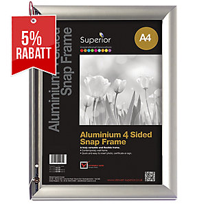 Bilderrahmen Superior AM9-A4SV, für DIN A4, aluminium