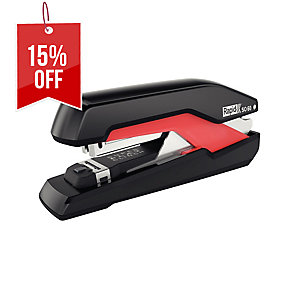 RAPID SUPREME OMNIPRESS COMPACT BLACK/RED STAPLER - CAPACITY 60 SHEETS