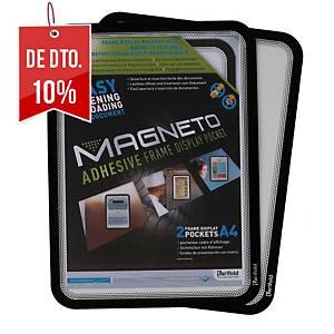 Pack de 2 bolsas adesivas Magneto - A4 - PVC - preto