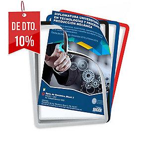 Pack de 2micas magnéticas TARIFOLD A4 PVC cinza