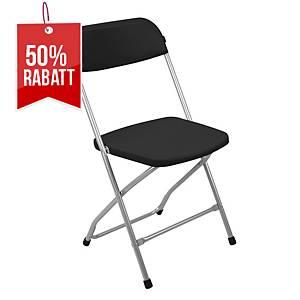 Medina klappbarer Stuhl, schwarz