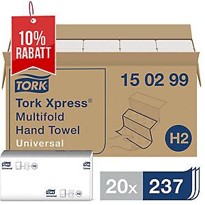 Falthandtuch Tork Xpress 150299, 2-lagig, Maße: 21 x 24cm, weiß, 20 x 237 Tücher