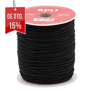 Bobina de corda elástica APLI 2mmx100m preto
