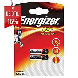 Pack de 2 pilhas-botão alcalinas Energizer A27 - 12 V