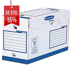 Pack 20 caixas arquivo Fellowes Bankers Box - A4+ - lombada 150mm - azul