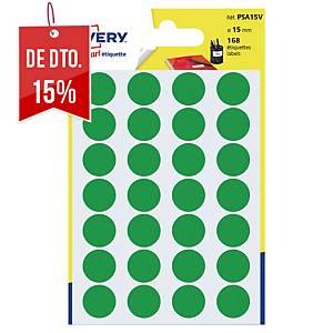 Saco de 168 autocolantes redondos Avery - Ø 15mm - verde