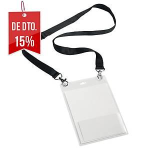 Pack de 10 identificadores de segurança Durable - transparente