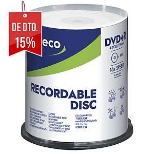 Pack de 100 DVD+R Lyreco - 4,7GB