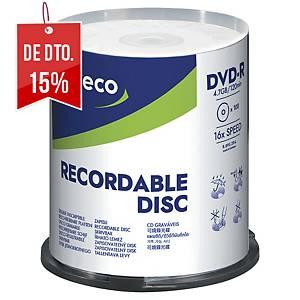 Pack de 100 DVD-R Lyreco - 4,7GB