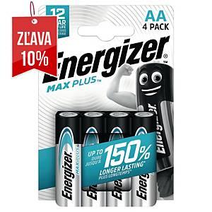 Batérie Energizer Max Plus, AA/LR06, alkalické, 4 ks v balení