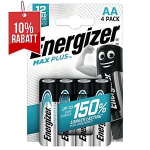 Energizer Max Plus Batterien, AA/LR06, Alkaline, Packung mit 4 Stück