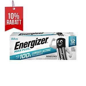 Batterie Energizer 638900, Mignon, LR06/AA, 1,5 Volt, ECO MAX PLUS, 20 Stück