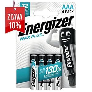 Batérie Energizer Max Plus, AAA/LR03, alkalické, 4 ks v balení