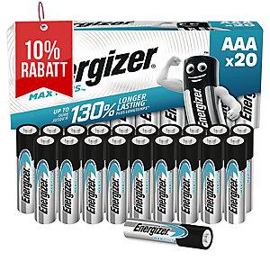 Batterie Energizer 638900, Micro, LR03/AAA, 1,5 Volt, ECO, 20 Stück