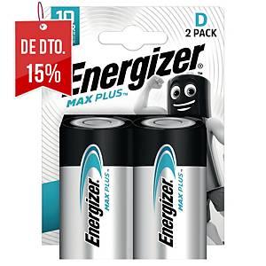 Pack de 2 pilhas alcalinas Energizer Max Plus D/LR20
