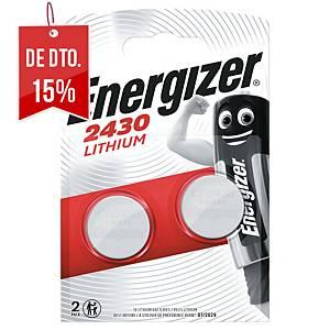 Pack de 2 pilhas-botão de lítio Energizer CR2430