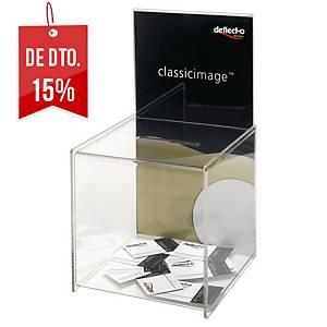 Caixa de sugestões Deflecto - transparente