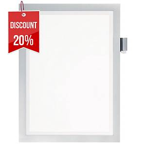 Durable Duraframe Magnetic Note A4 Silver