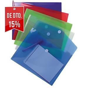 Pack de 5 bolsas de plástico Exacompta - A4 - PP - sortido