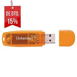 Memória USB Intenso Stick Rainbow - USB 2.0 - 64GB - verde