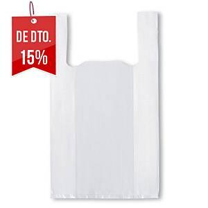 Pack de 200 sacos de plástico com duas asas - 350 x 500 mm - 12 μ