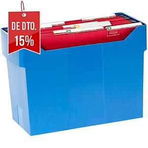 Caixa para 20 pastas suspensas Archivo 2000  - A4 - poliestireno - azul