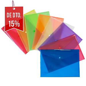 Pack de 12 bolsas de plástico Grafoplás - fólio - PP - azul