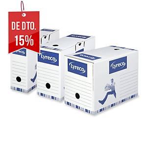 Pack 10 caixas de arquivo morto Lyreco - fólio - lombada 100 mm - branco